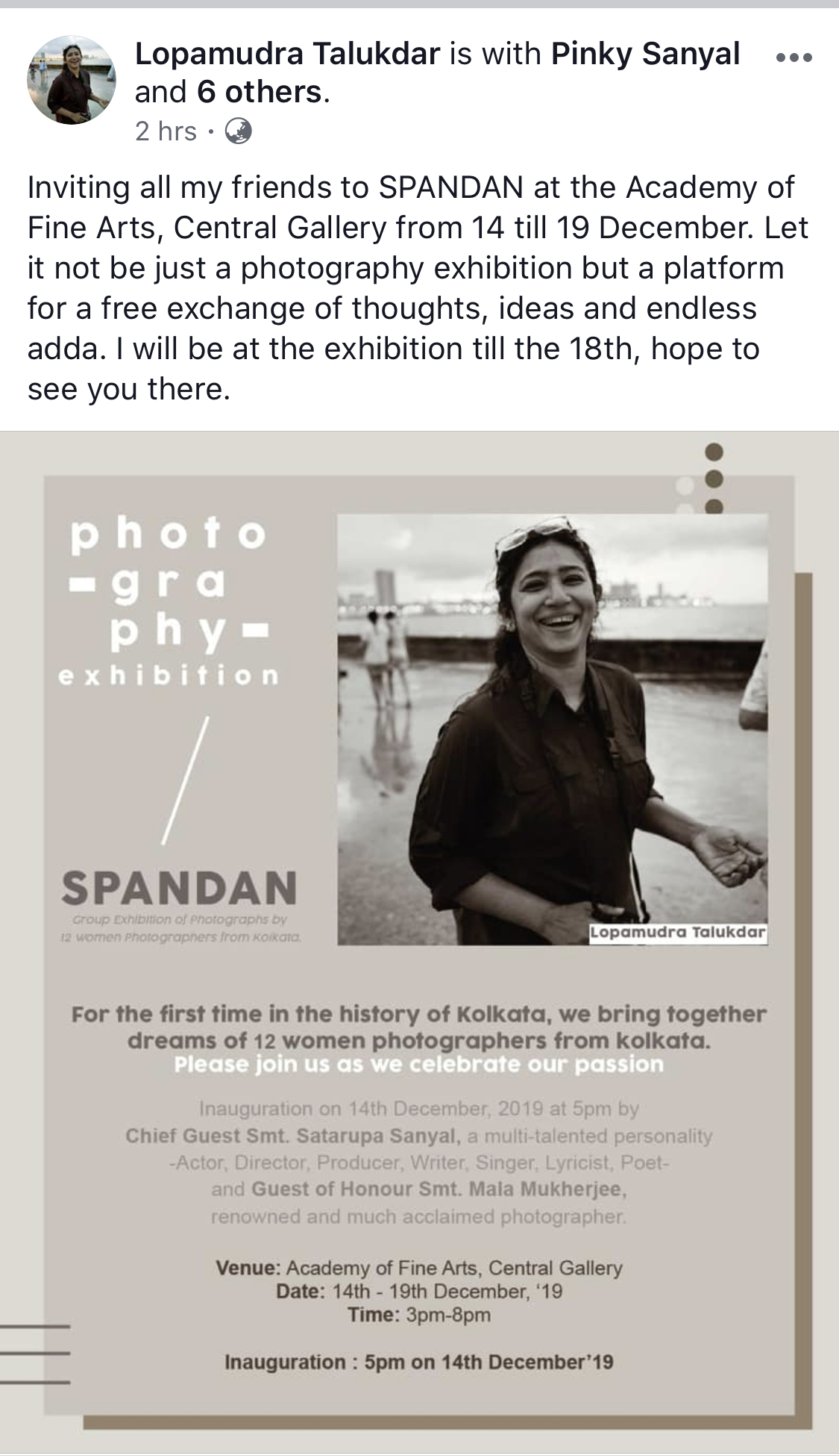 Lopamudra Talukdar's Photography Exhibition